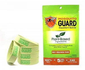 Mosquito Guard Bracelets anti-moustique/bandes de Bug (Travel Pack 5) 100% All Natural, citronnelle, huile de citronnelle, Non toxique de la marque Mosquito Guard image 0 produit