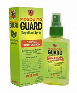 Mosquito Guard Répulsif Spray (4 FL Oz) fait avec 100% à base de plante naturelle tous les ingrédients - citronnelle, huile de citronnelle, NON toxique de la marque Mosquito Guard image 0 produit