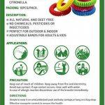 Moustiquaire Bracelets, bracelets anti moustiques Répulsif, insectes, sans DEET, idéal pour les enfants et les adultes, l'intérieur et l'extérieur, 100% naturel Huiles, 10individuels étanche poignet Bandes par lot de la marque Bug Armor image 2 produit