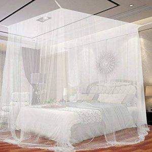 Moustiquaire de lit carrée 2m x 2m x 2m KillMoustik ✮ Travel Earth ✮ Grand format + Fixation et support inclus + 1 Porte intégrée + Pochette de transport Offerte ! La meilleure moustiquaire de lit pour se protéger efficacement des moustiques et instectes image 0 produit