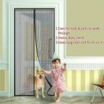 Moustiquaire de porte Magnétique Anti Moustiques Mouches porte moustiquaire magnétique idéal pour portes de balcon/de sous-sol/Cour 210cmx90cm de la marque YS image 2 produit