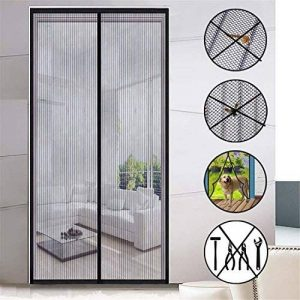 Moustiquaire de porte Magnétique Anti Moustiques Mouches porte moustiquaire magnétique idéal pour portes de balcon/de sous-sol/Cour 210cmx90cm de la marque YS image 0 produit