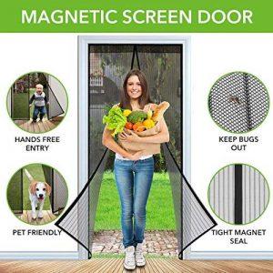 Moustiquaire de Porte Moustiquaire Rideau Magnétique Fermeture Automatique Anti Moustique Insectes pour Balcon Fenêtre Noir 210x100 de la marque Winterworm image 0 produit