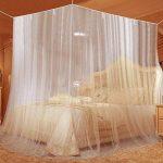 Moustiquaire, Opamoo Moustiquaire de lit Grand Moustiquaire en Polyester pour Lits Simples et Doubles, Moustiquaire Baldaquin Intérieur et Extérieur - Blanc de la marque opamoo image 3 produit
