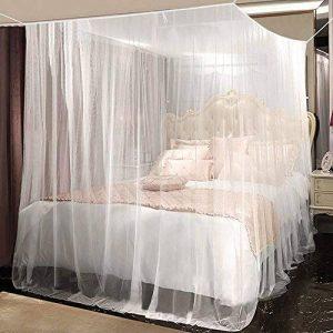 Moustiquaire, Opamoo Moustiquaire de lit Grand Moustiquaire en Polyester pour Lits Simples et Doubles, Moustiquaire Baldaquin Intérieur et Extérieur - Blanc de la marque opamoo image 0 produit