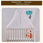 Moustiquaire pour Berceau Lit d'enfant Bébé pour Lit Anti Moustique insectes et poudre avec support support de la marque KASER image 1 produit