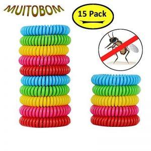 MUITOBOM - Lot de 15 bracelets anti-moustique - Répulsifs naturels - 250heures par bracelet - Étanches - Pour bébés, enfants et adulte de la marque MUITOBOM image 0 produit