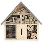 Navaris Hôtel Insecte en Bois - Cabane abri Taille M 24,5 x 28 x 7,5 cm - Maisonnette Refuge Abeille Coccinelle Papillon et Autres Insectes Volants de la marque Navaris image 6 produit