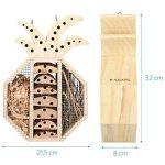 Navaris Hôtel à Insecte Bois - Cabane abri Forme Ananas 21,5 x 32 x 8 cm - Maisonnette Refuge Abeille Coccinelle Papillon Autres Insectes Volants de la marque Navaris image 2 produit