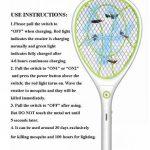 Night Cat Raquette anti-moustiques électrique Permet de se débarrasser des moustiques, mouches et autres insectes volants Rechargeable par USB Éclairage LED Double couche de protection en maille de la marque image 4 produit