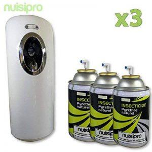 NUISIPRO Diffuseur naturel anti mouches, moustiques, moucherons avec 3 recharges pyrèthre naturel 250ml de la marque NUISIPRO image 0 produit