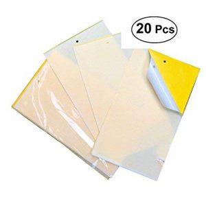 OUNONA 20pcs doubles collants collants jaunes dégrossis pour l'insecte de plante comme le moucheron de champignon, l'aleurode, le puceron, le mineur de feuille, d'autres insectsd volants, bogues 25 x 20cm de la marque OUNONA image 0 produit