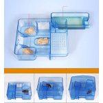 OUNONA Pièges cafard réutilisables cafards cafard boîte de piégeage cafard cafard pour cuisine salle de bains toilettes (bleu) de la marque OUNONA image 4 produit