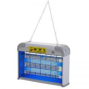 Outsunny Lampe UV anti-insectes anti moustique tue mouche électrique destructeur d'insectes 20 W gris 11 de la marque Outsunny image 0 produit