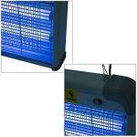 Outsunny Lampe UV anti-insectes anti moustique tue mouche électrique destructeur d'insectes 20 W gris 11 de la marque Outsunny image 3 produit