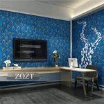 Papier peint Vintage rétro style sud-est asiatique paon plume motif 3D rouleau de papier peint pour salon/chambre à coucher/mur de TV/restaurant/magasin de vêtements, A de la marque M&H-24 image 3 produit