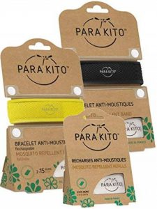 Parakito - PROTECTION ANTIMOUSTIQUE NATURELLE - KIT 2 x Para'kito BRACELET (Noir et Jaune) + 1 x Recharge Para'kito Pour BRACELET- NJ de la marque Para'kito image 0 produit