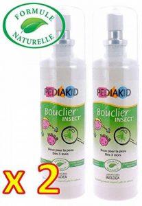 Pediakid - Bouclier insect - FORMULE NATURELLE - Sans Alcool - Protéger les enfants dès 3 Mois des piqûres d'insectes - Lot de 2 Flacons de la marque Pediakid image 0 produit