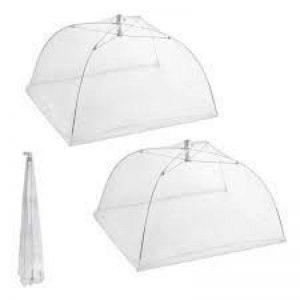 Penta Ton Parapluie cloche Cloche Couverture pour nourriture Cloche alimentaire Couverture pour l'extérieur et à la maison dans différentes couleurs, lot de 2 Weiß de la marque Pentaton image 0 produit