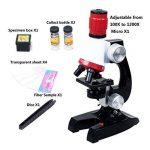 PHOEWON Niños Microscopio Kit Scienza Microscopio Bambini 100x 400x 1200x Microscopio con LED Luci Kit de Microscopio para Estudiantes de la marque PHOEWON image 2 produit