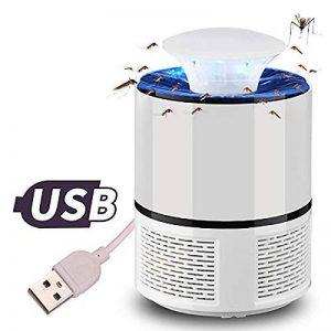 Pièges à Moustiques Muet Tueur de Moustiques Non Toxique Piège Anti-moustique Insecte Mouche Bug USB UV Inhaler le Moustique Lampe pour Intérieur de la maison Cuisine Jardin extérieur (blanc) de la marque Umiwe image 0 produit