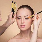pinceaux maquillages 10 PCS Pinceau maquillage yeux fard à paupières Eyeliner Lip Brush Powder Foundation outil cosmétique pinceaux Kit de la marque SUNNICY image 1 produit