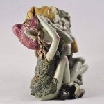 Pixie Hear, See, Speak No Evil - Green Garden Home Decor - Fun Quirky Gift Figurine - Anthony Fisher by Fiesta Studios de la marque Fiesta image 4 produit