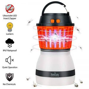 Portable Moustique Tueur Lampe Homecube Piège à Insectes Lanterne de Camping Tente Lumière IP67 Imperméable à L'eau Chargement USB Lampe de Moustiques Zapper Répulsif Rechargeable Lumière, pour Extérieur et Urgences de la marque Homecube image 0 produit