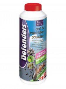 Poudre anti et fourmis et insecticide (Traitement pour contrôler les insectes comme les fourmis, les cafards, les perce-oreilles et les colportes dans les maisons, les patios et les jardins, traite jusqu'à 25m²). Cette poudre pèse 450g. de la marque Def image 0 produit