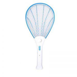 Pretty-jin Dengeki insecticide raquette mouche frappant choc électrique raquette belle moustique insecticide trois couche net hypothèque avec LED grande taille (Bleu) de la marque Pretty-jin image 0 produit