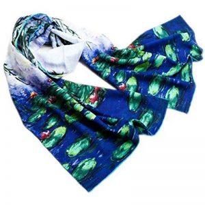 Prettystern - Peinture sur soie 160cm art print foulard de soie Claude Monet - différents modèles de la marque Prettystern image 0 produit