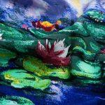 Prettystern - Peinture sur soie 160cm art print foulard de soie Claude Monet - différents modèles de la marque Prettystern image 3 produit