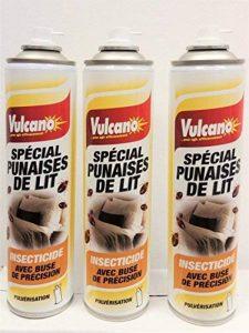 PRODUIT INSECTICIDE PUNAISES DE LIT SPÉCIAL PRO PULVERISATION LOT DE 3 BOMBES de la marque Vulcano image 0 produit