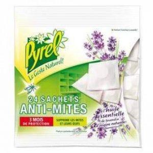 Pyrel - Sachets anti-mites, à l'huile essentielle de lavandin - 24 pièces de la marque Pyrel image 0 produit