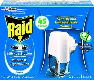 Raid Diffuseur Électrique Liquide, 1 Recharge, Moustiques et Moustiques Tigres, 45 Nuits, Insecticide de la marque Raid image 0 produit