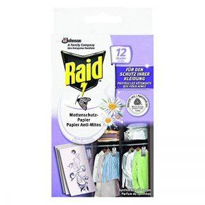 Raid Papier Anti- Mites, Senteur Fleurs Fraîches, Lot de 12 de la marque Raid image 0 produit