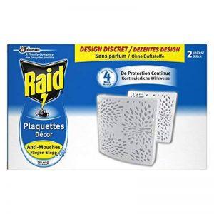 Raid Plaquettes Décor Anti-Mouches, 4 Mois de Protection, Sans Parfum, Blanc, Lot de 2 de la marque Raid image 0 produit