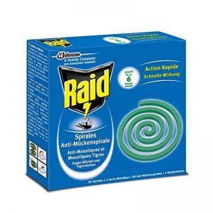 Raid Spirales Anti-Moustiques, 10 Spirales, 1 Socle Métallique, Usage Extérieur, Diffusion 6h, Insecticide de la marque Raid image 0 produit