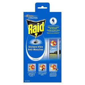 Raid Stickers Vitre Anti-Mouches, Efficacité 4 Mois, Forme Fleur, Insecticide, Lot de 4 de la marque Raid image 0 produit
