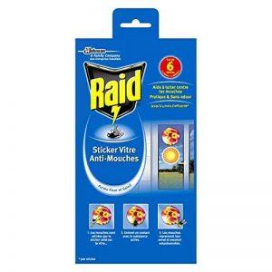 Raid Stickers Vitre Anti-Mouches, Efficacité 4 Mois, Formes Fleur et Soleil, Insecticide, Lot de 6 de la marque Raid image 0 produit