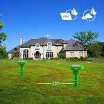 Redeo Répulsif anti taupe solaire - Set de 2 pièces - Anti taupes, campagnols, fourmis, serpents et nuisibles IP56 imperméable, 625 m² de la marque Redeo image 2 produit