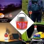 Reefa Répulsif 2 En 1 Lanterne Anti Moustique Moucheron/Lampe anti-insectes + Lampe Pour Camping Tente,LED,Imperméable,Charge: USB,pour l'intérieur et l'extérieur, pour la maison et les voyages de la marque Reefa image 3 produit