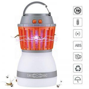 Reefa Répulsif 2 En 1 Lanterne Anti Moustique Moucheron/Lampe anti-insectes + Lampe Pour Camping Tente,LED,Imperméable,Charge: USB,pour l'intérieur et l'extérieur, pour la maison et les voyages de la marque Reefa image 0 produit