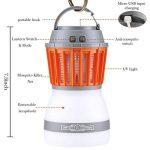 Reefa Répulsif 2 En 1 Lanterne Anti Moustique Moucheron/Lampe anti-insectes + Lampe Pour Camping Tente,LED,Imperméable,Charge: USB,pour l'intérieur et l'extérieur, pour la maison et les voyages de la marque Reefa image 1 produit