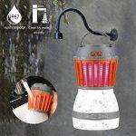 Reefa Répulsif 2 En 1 Lanterne Anti Moustique Moucheron/Lampe anti-insectes + Lampe Pour Camping Tente,LED,Imperméable,Charge: USB,pour l'intérieur et l'extérieur, pour la maison et les voyages de la marque Reefa image 4 produit