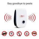 Renohef Pest Reject Répulsif ultrasonique de ravageur, contrôle de parasite de maison de paquet de 6 pour des moustiques, des souris, des fourmis, des cafards, des araignées, des lézards, des mouches, des bogues, etc. Type de bouchon de sécurité anti-para image 1 produit