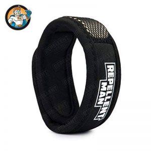 REPELLENT MAN – Bracelet anti-moustique avec bande réutilisable. Nouvelle méthode de diffusion nano-technologique – Qualité Supérieure – couleur noir – 100% naturel de la marque Repellent Man image 0 produit