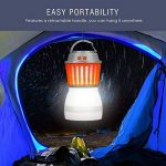 Rhino Valley Lampe de Camping Anti-Moustique,2 en 1 LED UV Lampe Extérieure,Lanterne Hydrofuge pour l'extérieur, à l'intérieur, à la Maison et Voyage - Orange+Blanc de la marque Rhino Valley image 1 produit