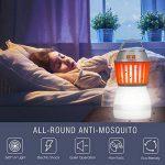 Rhino Valley Lampe de Camping Anti-Moustique,2 en 1 LED UV Lampe Extérieure,Lanterne Hydrofuge pour l'extérieur, à l'intérieur, à la Maison et Voyage - Orange+Blanc de la marque Rhino Valley image 2 produit