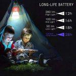 Rhino Valley Lampe de Camping Anti-Moustique,2 en 1 LED UV Lampe Extérieure,Lanterne Hydrofuge pour l'extérieur, à l'intérieur, à la Maison et Voyage - Orange+Blanc de la marque Rhino Valley image 3 produit